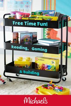 """The best time in class is earned """"free time"""" so why not make a reward cart – Great Camping Info The best time in class is earned """"free time"""" so why not make a reward cart The best time in class is earned """"free time"""" so why not make a reward cart Classroom Setting, Classroom Design, Future Classroom, School Classroom, Classroom Organization, Classroom Management, Classroom Decor, Homeschooling Statistics, Homeschooling Resources"""