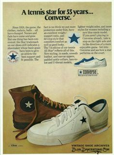 3e54cbefc3d7 Converse All Star Tennis Shoes 1974 Ad Picture