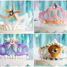 We recently had a ✨Let's Be Mermaids ✨ party and the little mermaids created these beautiful mermaid crowns using seashells, gems and tiaras from @orientaltrading. We even created our own DIY mermaid grotto with the help of @orientaltrading. ✨ See the entire party on the blog! *link in bio.