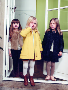 As the winter days start to draw in, beautifully crafted Chloé coats, dresses and knits keep the girls warm