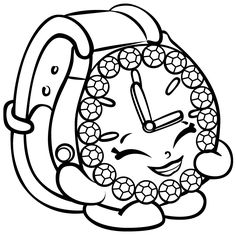 Ticky Tock Watch Shopkins Season 3 Coloring Pages Printable And Book To Print For Free Find More Online Kids Adults Of