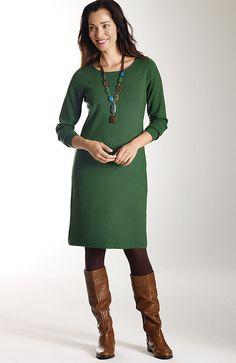 easy sweater dress at J.Jill