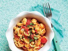 Orecchiette with Rustic Tomato Sauce and Chickpeas