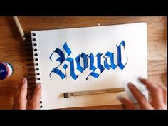 Amsterdam all acrylics ink review Frakone Calligraphy - YouTube