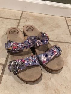 4df3aea3d5050 USED-Dansko Sandals Straps are Multicolor Floral Size 38  fashion  clothing   shoes