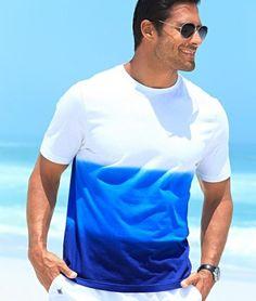 Tricouri ieftine: Tricou barbatesc BPC albastru degrade