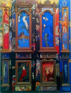 Burhan Uygur, Kapı, 1989, ahşap kapı üzerine karışık teknik, 260 x 180 cm, İstanbul Modern Sanat Müzesi