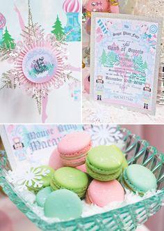 Magical Sugar Plum Fairy Nutcracker Birthday Party // Hostess with the Mostess® Nutcracker Sweet, Nutcracker Christmas, Christmas Fairy, Nutcracker Crafts, Merry Christmas, Fairy Birthday Party, Birthday Ideas, Ballerina Birthday, Ballerina
