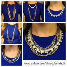 Mixed Metal Sutton Necklace- 1 Necklace worn in multiple ways! stelladot.com/tonim