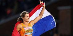 Dafne Schippers Europees Kampioen op 100 meter sprint op het EK in Amsterdam Dafne Schippers, Heptathlon, Allyson Felix, Champion, Us Olympics, Track And Field, Olympians, Female Athletes, Sports Women
