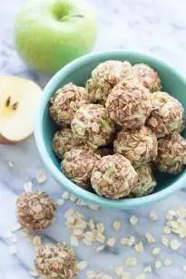 Filled with oats, almond butter, and fresh apple, these no-bake Apple Cinnamon Cookie Energy Bites are a healthy snack that's perfect for all ages!