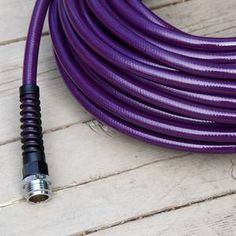 """""""Lead-Safe Garden Hose by Water Right"""" in *PURPLE [Eggplant]*  [Photograph by Kerry Michaels]   'h4d' 120814"""