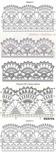 New Crochet Edging Patterns IdeasYou can find Crochet lace and more on our website.New Crochet Edging Patterns Ideas Crochet Edging Patterns, Crochet Lace Edging, Crochet Borders, Crochet Diagram, Filet Crochet, Easy Crochet, Tutorial Crochet, Lace Patterns, Crochet Edgings