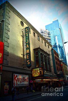 St. James Theatre - photograph by James Aiken james-aiken.artistwebsites.com #jamesaiken #broadway #newyorkcity