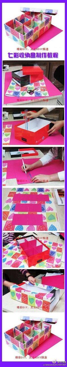 DIY Colorful Storage Box by manuela
