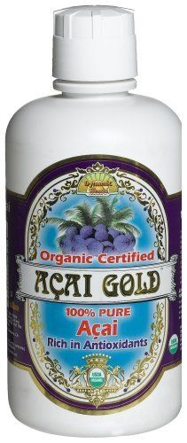 Dynamic Health Acai Gold- 100% Pure Organic Certified Acai Juice, 32-Ounce Bottle $22.82