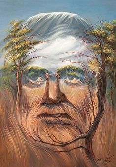 35 Mind-Twisting Optical Illusion Paintings By Oleg Shuplyak - Optical illusions are always fun and fascinating as they trick our brain into perceiving things dif - Optical Illusion Paintings, Optical Illusions Pictures, Illusion Pictures, Illusion Drawings, Art Optical, Illusion Art, Art Visage, Hidden Images, Bizarre