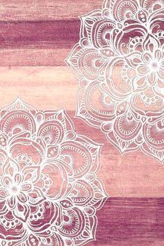 Rustic flower print