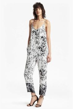 63ef00b516e6 French Connection Copley Crepe Printed Strappy Jumpsuit  ad French  Connection Style