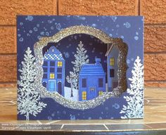 KB Papercraft: Holiday Home Diorama * Lovely as a Tree - another picture in the post that shows the diorama layering.