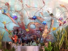 A beautiful copper and glass fountain by stoneandglass.com in SanDiego - Gorgeous!