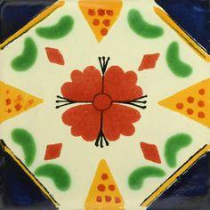 Traditional Mexican Tile - Azucena - Mexican Tile Designs