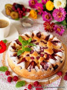 proste-ciasto-ala-biszkopt-z-owocami Food And Drink, Pie, Sweets, Breakfast, Cook, Recipes, Torte, Morning Coffee, Cake