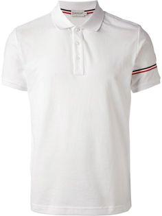 Moncler White Polo Top