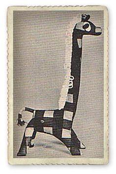 Free Vintage Toy Pattern: The Little Giraffe