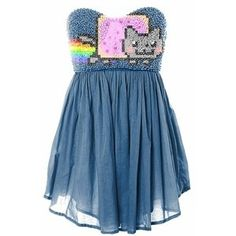 Nyan Cat Dress- UGH! I wish this had a link to somewhere I could buy this. I love it!!