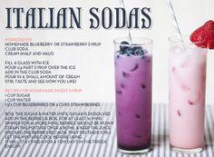 #Italian Sodas #Beverage #Food #Recipe