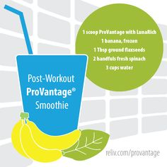 Get the ProVantage advantage with this protein packed smoothie recipe! https://reliv.com/p/provantage