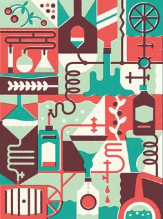 We created an editorial illustration for British Airways magazine, Highlife SA.  The piece was on artisanal distilleries in South Africa.