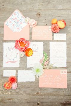 Coral And Peach Wedding Editorial                                                                                                                                                                                 Mehr
