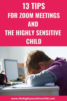 Zoom meeting can be incredibly hard for the highly sensitive child and honestly any child with sensory challenges. There is so much sensory stimulation that it can be hard for a child to conventrate during online schooling, especially Zoom meetings. Click to learn how you can help your child with virtual school and Zoom meeting with these 13 tips. #virtualschool #zoomtips #HSP #highlysensitive Highly Sensitive Person Traits, Ways To Reduce Anxiety, Mothers Of Boys, Social Emotional Development, How To Focus Better, Online Classroom, Anxiety In Children, Special Needs Kids, Kids And Parenting