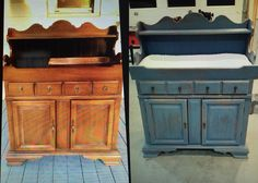 Now I Just Have To Find An Old Beat Up Dry Sink For Chea To Make One!  Before/after : Vintage Dry Sink Turned Changing Table