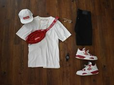 Image may contain: shoes Swag Style, Style Hip Hop, Style Grunge, Style Casual, Style Streetwear, Streetwear Fashion, Dope Outfits For Guys, Casual Outfits, Boy Fashion