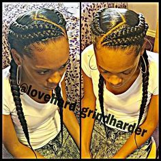 87 Cornrow Hairstyles for Black Women Ideas in Next time you're stuck trying to think up new ideas for your natural hair, try one of these stunning looks. Whether you have short hair, long braids, ., Cornrow Hairstyles for Black Women African Braids Hairstyles, Girl Hairstyles, Braided Hairstyles, African Hair Braiding, Black Hairstyles, Black Girl Braids, Girls Braids, French Braids Black Hair, Braid Styles