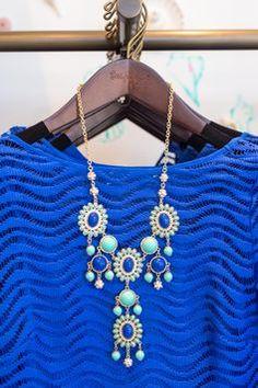 Lilly Pulitzer Topanga Lace Tunic Dress & Dew Drop Bib Necklace