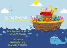 Noahs Ark Party Invitation - PRINTABLE. $16.99, via Etsy.