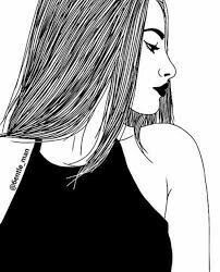 easy black and white drawings Tumblr Outline Drawings, Tumblr Girl Drawing, Tumblr Sketches, Cute Drawings, Drawing Sketches, Girl Drawings, Drawing Ideas, B&w Tumblr, Tumblr Hipster