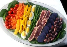 Rainbow Nicoise with Killer Vinaigrette by lisamichele #Salad #Nicoise #lisamichele #Ahi