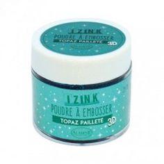 Poudre à embosser Izink - Topaz Pailleté