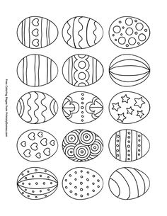 Free printable Easter Coloring Pages eBook for use in your classroom or home from PrimaryGames. Print and color this Easter Eggs coloring page.