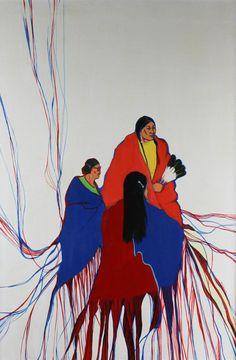 RUTHE BLALOCK JONES- SPIRIT OF FAMILY, 1981 Acrylic on canvas kp