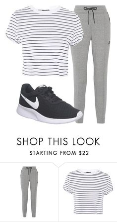 """""""Outfit #1907"""" by lauraandrade98 on Polyvore featuring moda, NIKE y Topshop"""