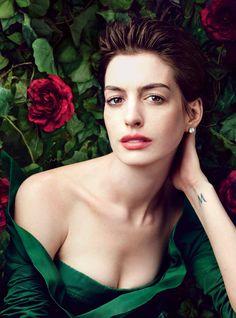 Anne Hathaway photographed by Annie Leibovitz, Vogue, March 2013.