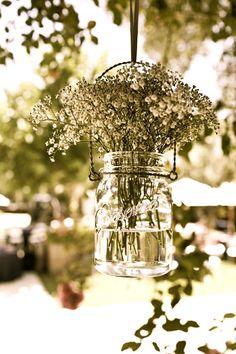 simple hanging flower arrangements