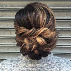 Hair idea for bride - elegant low updo for wedding {Courtesy of Beautiful Addiction}