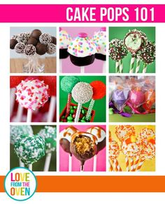 Such a great guide to making cake pops.  I didn't realize how many different ways (cake and frosting, cake pop maker, no bake with cookies).  So much great info here!